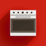 Flat illustration of oven Royalty Free Stock Photos