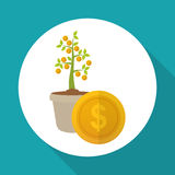 Flat illustration of profit design , editable vector Royalty Free Stock Image