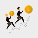 Flat illustration of profit design , editable vector Stock Photos