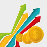 Flat illustration of profit design , editable vector Stock Photo