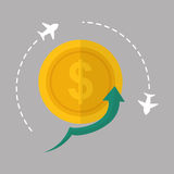 Flat illustration of profit design , editable vector Royalty Free Stock Photos