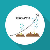 Flat illustration of profit design , editable vector Royalty Free Stock Photo