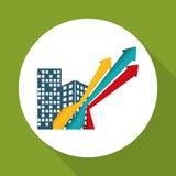 Flat illustration of profit design , editable vector Stock Image