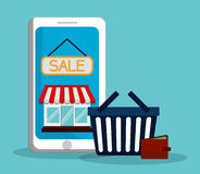Flat illustration of shopping design Royalty Free Stock Image