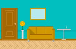 Flat illustration for sitting-room Stock Image