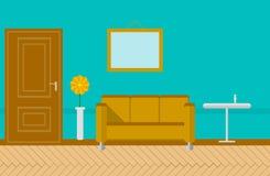 Flat illustration for sitting-room Stock Image