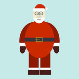 Flat illustration of smiling Santa Claus Royalty Free Stock Photos
