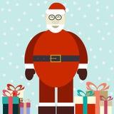 Flat illustration of smiling Santa Claus Stock Photos