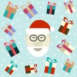 Flat illustration of smiling Santa Claus Royalty Free Stock Photo