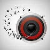 Flat illustration about speaker design Royalty Free Stock Photos