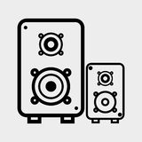 Flat illustration about speaker design Stock Images