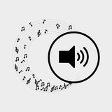 Flat illustration about speaker design Royalty Free Stock Photography