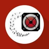 Flat illustration about speaker design Royalty Free Stock Photo