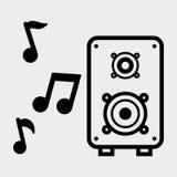Flat illustration about speaker design Royalty Free Stock Image
