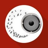 Flat illustration about speaker design Royalty Free Stock Images