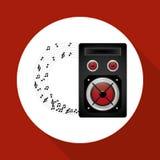 Flat illustration about speaker design Stock Photography