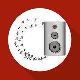 Flat illustration about speaker design Stock Photos