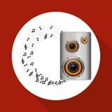 Flat illustration about speaker design Stock Image