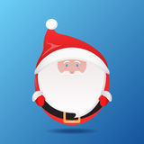 Flat illustration with a stylized of Santa Claus Royalty Free Stock Images