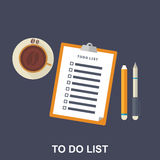 Flat Illustration of To-do List, Stock Photo