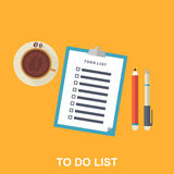 Flat Illustration of To-do List, Stock Photography
