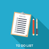 Flat Illustration of To-do List, Royalty Free Stock Image