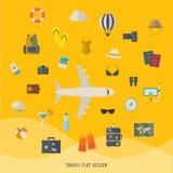 Flat illustration of travel Stock Image