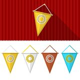 Flat illustration of triangular pennants Royalty Free Stock Image