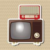 Flat illustration about vintage tv design Stock Photo