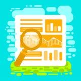 Flat  illustration web analytics and Information. Digital marketing SEO optimization Stock Image