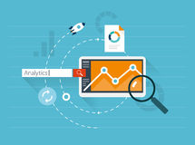 Flat illustration web analytics Stock Photos