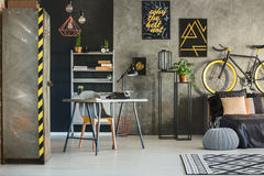 Flat In Industrial Style Stock Photography