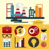 Flat industrial design royalty free illustration