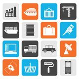Flat Industry and Business icons. Vector icon set Royalty Free Stock Image