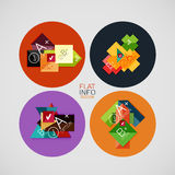 Flat infographic design concept set Stock Images