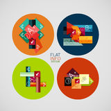 Flat infographic design concept set Stock Image