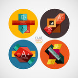 Flat infographic design concept set Royalty Free Stock Images