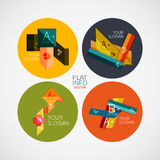 Flat infographic design concept set Royalty Free Stock Image