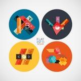Flat infographic design concept set Stock Photo