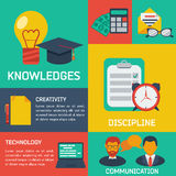 Flat infographic education background Royalty Free Stock Photography