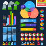 Flat infographic icons with pipes Royalty Free Stock Photos