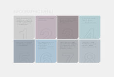 Flat infographic interface elements Royalty Free Stock Photo