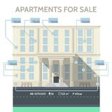 Flat infographic for sale apartments Stock Photo