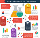 Flat infographic scientific background Royalty Free Stock Photos
