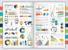 Flat infographic set Royalty Free Stock Images