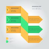 Flat infographic template with arrows Stock Photos