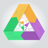 Flat infographic triangle template with arrows Royalty Free Stock Photos