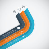 Flat infographic vector template showing business  Royalty Free Stock Photo