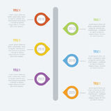 Flat Infographics Elements 02 Royalty Free Illustration
