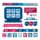 Flat infographics and web elements. Flat Web And Mobile Interface. Design Elements Stock Photos
